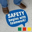 Chat Bubble - Safety Begins with Teamwork