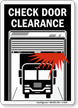 Low Clearance Sign