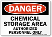 Danger Chemical Storage Authorized Personnel Sign