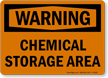 Warning Chemical Storage Area Sign