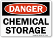 Danger Chemical Storage Sign