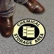 Chemical Storage Floor Glow Sign
