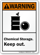 Chemical Storage Keep Out Warning Sign