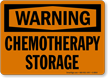 Chemotherapy Storage OSHA Warning Sign