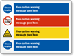 Choose Cliparts And Add Your Custom Warning Message Sign