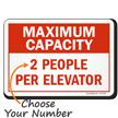 Choose Maximum Capacity Per Elevator Social Distancing Sign