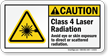 Laser Radiation Avoid Eye Or Skin Exposure Sign