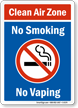 Electronic Cigarettes Prohibited Sign