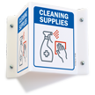 Cleaning Supplies Projecting Sign