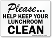 Food Cafeteria Lunchroom Sign