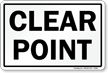 Clear Point Railroad Sign