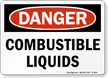 OSHA Danger, Combustible Liquids Sign