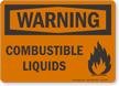 Combustible Liquids OSHA Warning Sign