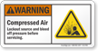 Compressed Air ANSI Warning Sign