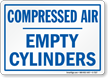 Compressed Air Empty Cylinders Sign