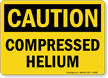 Compressed Helium OSHA Caution Sign