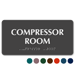 Compressor Room TactileTouch Braille Sign