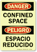 Glow Bilingual OSHA Danger / Peligro Sign