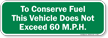 This Vehicle Does Not Exceed 60 M.P.H Sign
