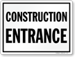 Construction Entrance Safety Sign