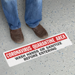 Containment Area Wash Hands SlipSafe Floor Sign