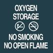 Contour Oxygen Storage Sign, 5.5in. x 5.5in.