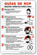 Spanish CPR Guidelines Sign