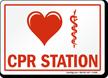 Heart Caduceus Snake Medical Symbol, CPR Station Sign