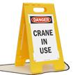 Danger Crane In Use Standing Floor Sign