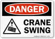 Crane Swing OSHA Danger Sign