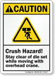 Crush Hazard, Stay Clear Of Die Set Sign