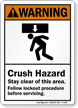 Crush Hazard Stay Clear Of This Area Sign