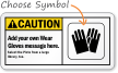 Custom Caution (ANSI) Sign