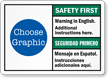 Custom Bilingual Safety First Seguridad Primero Sign