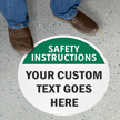 Custom Safety Instructions Floor Sign