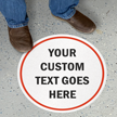 Custom 17in. Diameter SlipSafe™ Floor Sign