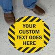 Custom 17in. Striped Circle Floor Sign