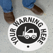 Custom Warning Circle SlipSafe™ Floor Sign