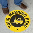 Custom Circle SlipSafe™ Warning Floor Sign