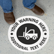 Custom 17in. Circle SlipSafe™ Floor Sign