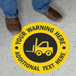 Custom Warning Circular SlipSafe™ Floor Sign