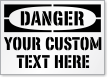 Custom Danger Text Sign Stencil