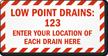 Custom Fire Sprinkler Sign