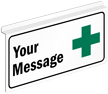 Custom First Aid Two Sided Z Ceiling Sign