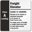 Customizable Freight Elevator Sign