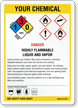 Customizable GHS Chemical Danger and NFPA Combo Sign