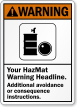 Personalized ANSI Hazmat Warning Sign