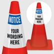 Custom OSHA Notice Cone Collar