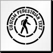 Custom Pedestrian Stencil