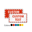 Customized Rectangle Sign with Striped Border